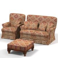 3d teterad classic chair model