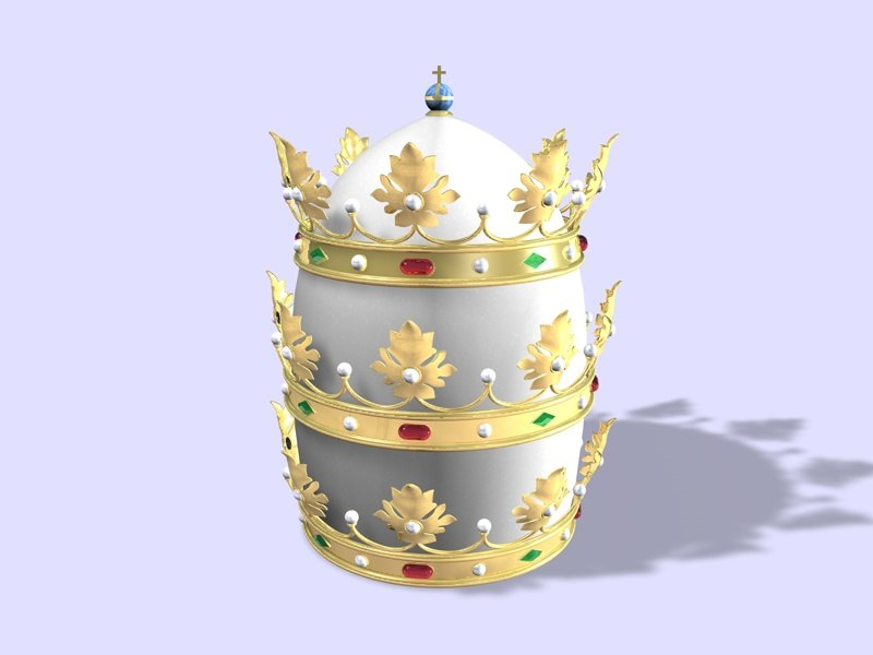 papal tiara crown 3d model