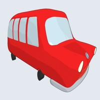 cartoonish bus 3ds