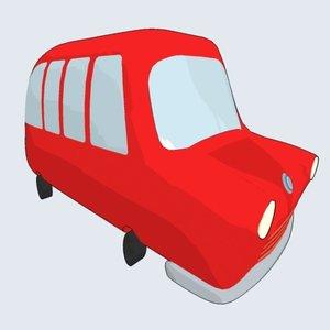 cartoonish bus 3ds