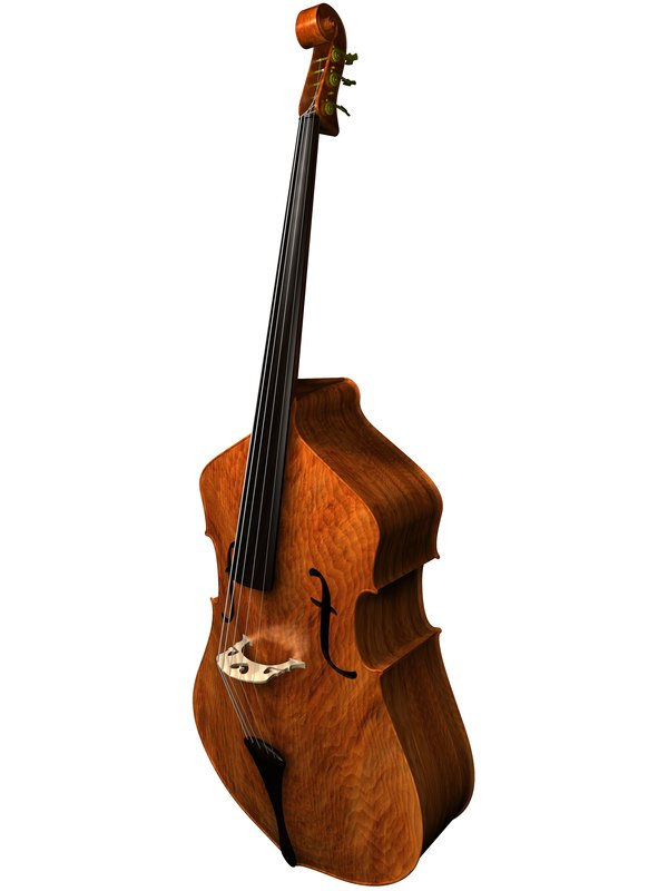 upright bass c4d