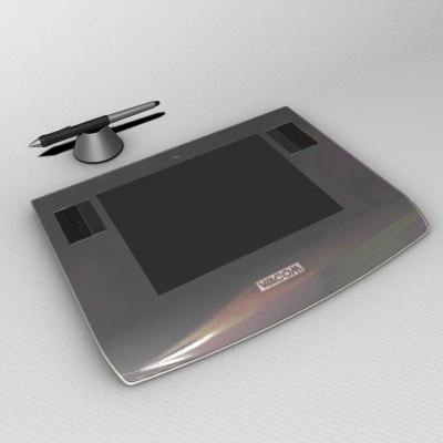 wacom intuos 3 3d model