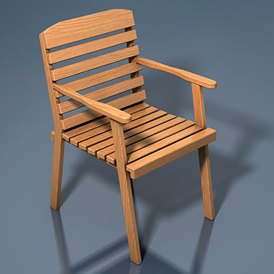 3d chair classic wood wooden