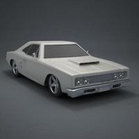 classic 70s car 3d 3ds