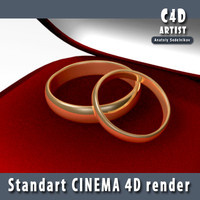 c4d wedding rings