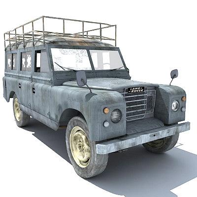 classic landrover car 3d model