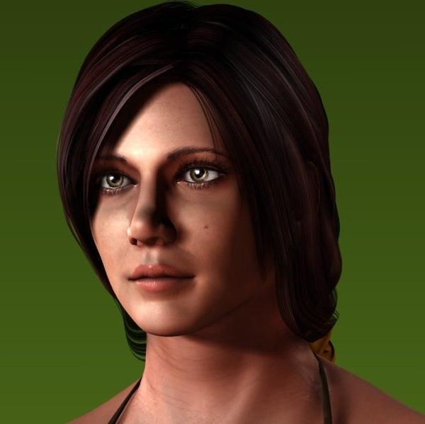 3d woman female human