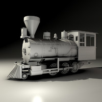 3d model toy locomotive