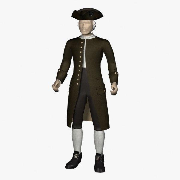 3dsmax colonial dress