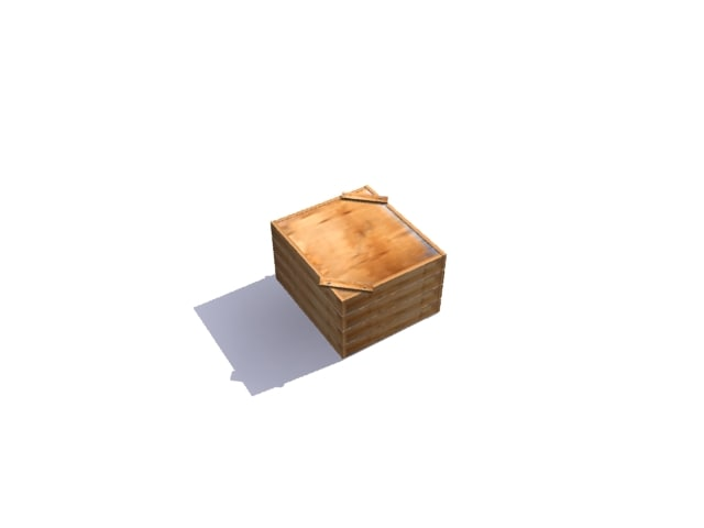 3ds max old crate box