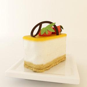 cheesecake 3d model