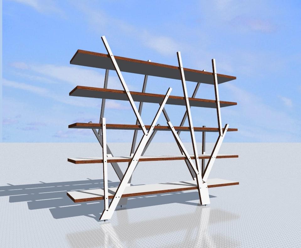 3d florest shelf