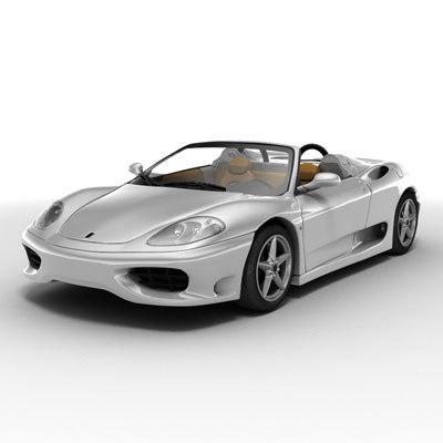 ferrari modena 360 3d model