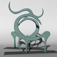 sculptural glass horse 3d model