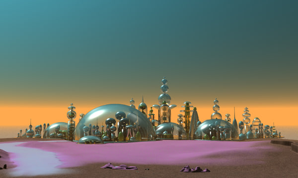 3d model city glass