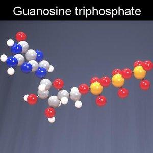molecule gtp triphosphate guanosine 3d max