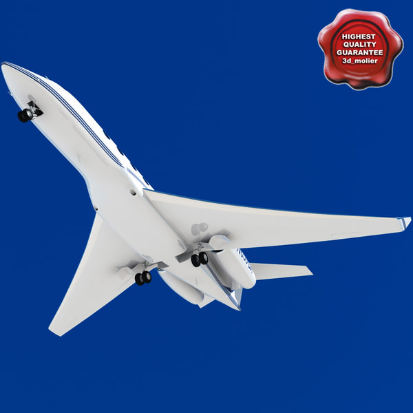 realistic gulfstream g650 3d model