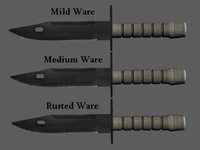 3d m9 bayonet knife blade