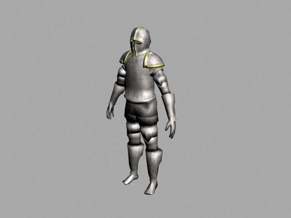 3d knight armour