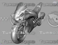 maya modeled concept motorcycle