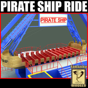 3d pirate ship ride