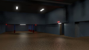 3d industrial hanger storage facility