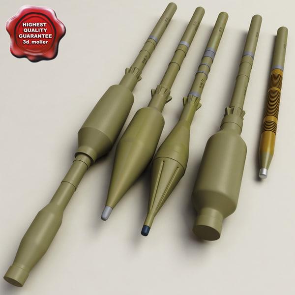 3d model rpg grenades