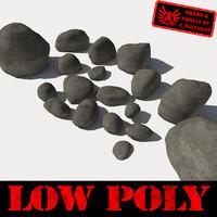 rocks stones 5 - 3d model