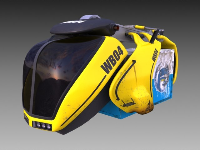 3dsmax worker bee transporter shipping
