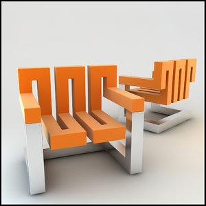 lwo zig chair design