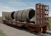 railroad train heavy capacity 3d model