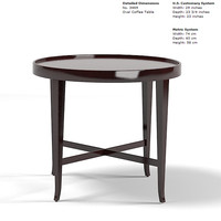 baker barbara barry oval coffee table