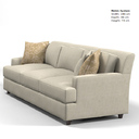 baker jaques garcia 3766-97 modern contemporary sofa