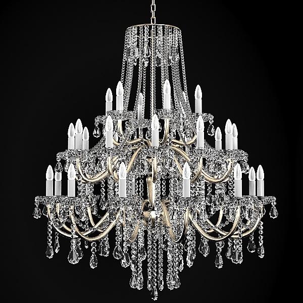 chandelier classic crystal 3d model