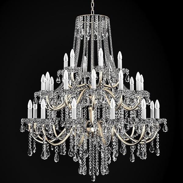 Chandelier 3d models for download turbosquid chandelier classic crystal 3d model aloadofball Image collections