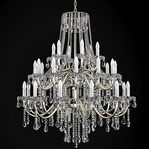 chandelier classic crystal 3d model