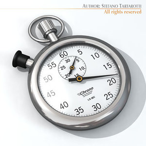 stopwatch timer chronograph 3d model