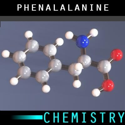 3ds max molecule phenylalanine