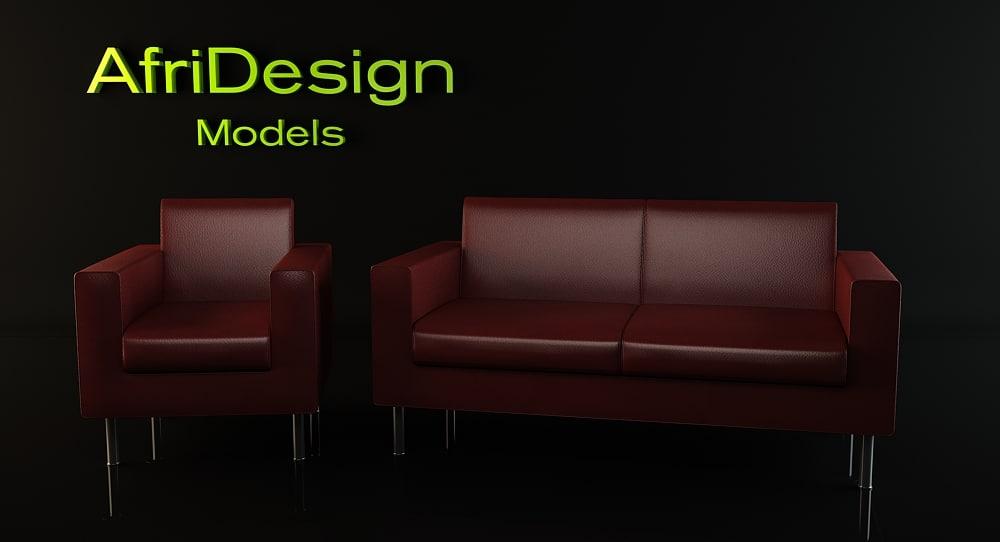 cubic sofa 3d model