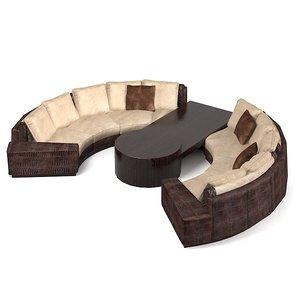formitalia sofa bar 3d model