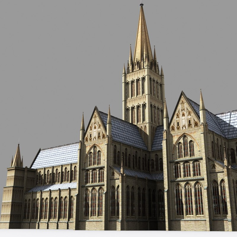 salisbury cathedral 3d model