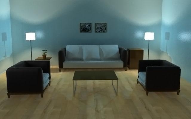 interior 3d 3ds