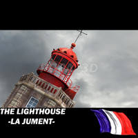 3d model france lighthouse la jument-