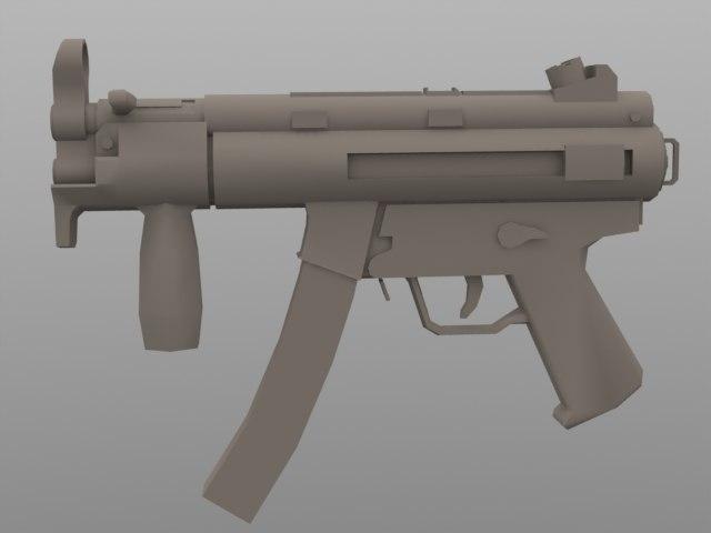 3d compact submachinegun model