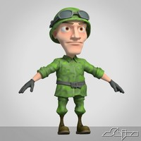 Cartoon Soldier 2
