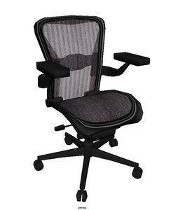 ergonomic office desk chair 3d model