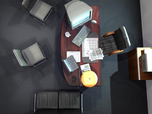 office filler objects chair 3d model