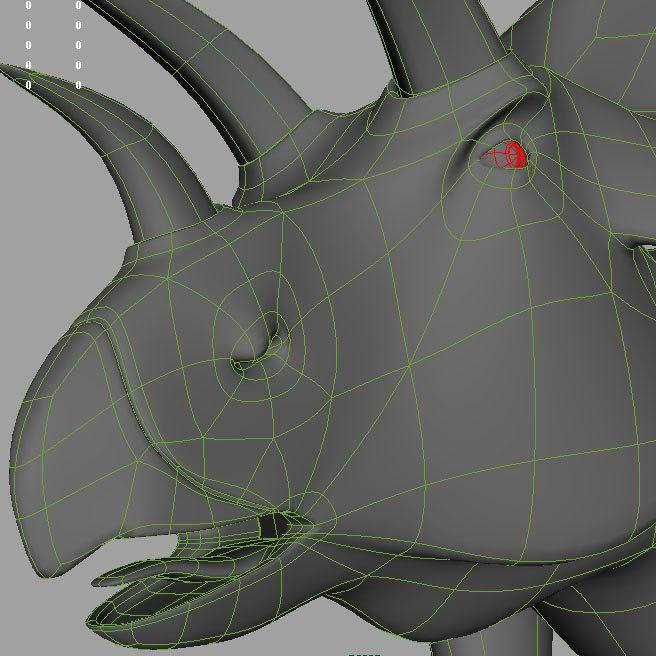 3d triceraptor model