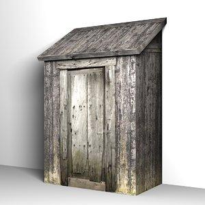 3d model of shed storage building