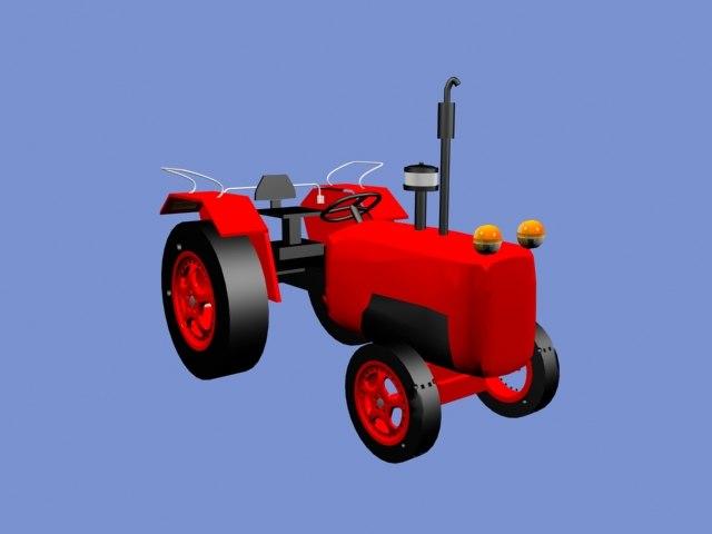 free 3ds model tractor mahindra modeller